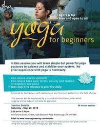 [free] Yoga For Beginners on Saturday Sept 28. 2019 at 2.00 pm, Scarborough