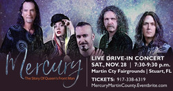 """mercury"" - Live Drive-In Concert - Music of Queen!"