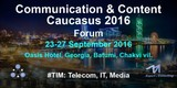 #tim: 1st International Forum «communication & Content. Caucasus 2016»