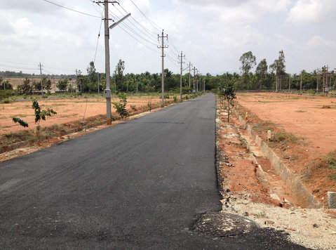 residential plot for sale airport road chikkajala - Land