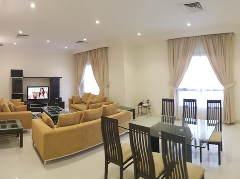 Very nice fully furnished huge villa flat  with gym n Egaila - اپارٹمنٹ