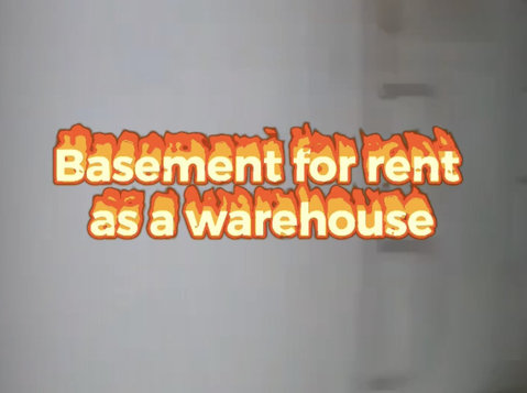 basement for rent as a warehouse - Office / Commercial