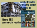 4br liberty 888 townhouses for sale at cubao quezon city - Houses