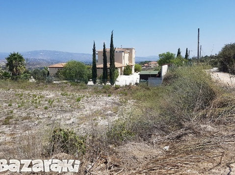 Plot area 2609 sq m Pano Stroumbi Village - Paphos, Cyprus - Terrenos