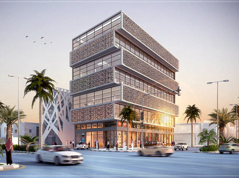high end commercial office building for rent in malaz - Office / Commercial