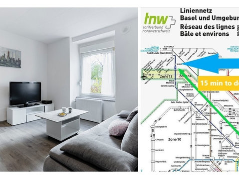 Renovated Furnished Apart Basel Tram - Serviced apartments