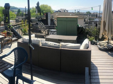 Cosy attic with stunning roof top terrace at a great price! - Apartman Daireleri