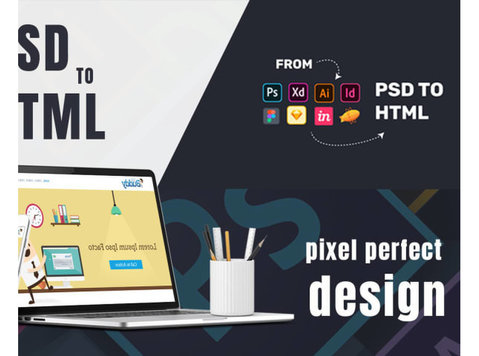 convert your psd to html , xd to html, sketch to html - Webdesign