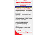 Female Relationship Executive - Administrative and Support Services
