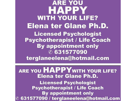 happy with your life? clinical psychologist/psychotherapist - Servicii Sociale/Sanatate Mentala